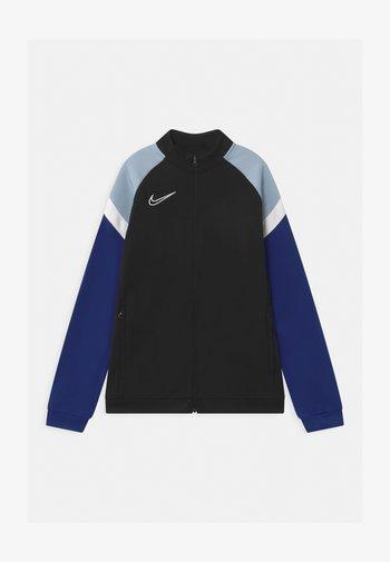 ACADEMY - Training jacket - black/deep royal blue/white