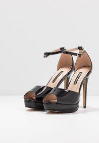 Dorothy Perkins - SORBET PLATFORM - Sandaler med høye hæler - black - 4