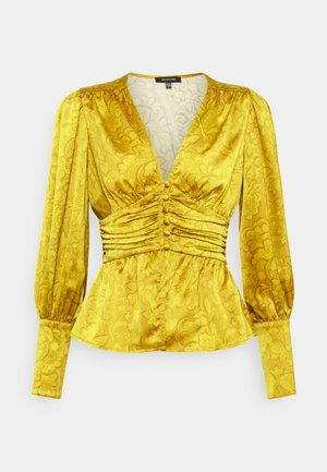 EMPIRE WAISTED TOP - Blouse - mustard foulard