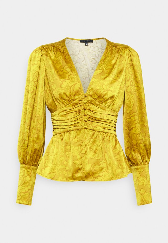 EMPIRE WAISTED TOP - Blůza - mustard foulard