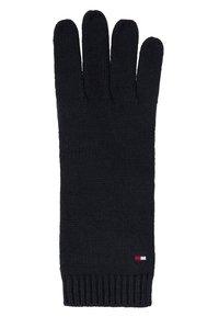 Tommy Hilfiger - FLAG KNIT GLOVES - Fingerhandschuh - black - 1
