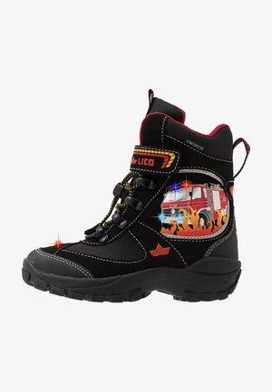 HOT VS BLINKY - Winter boots - schwarz/rot/gelb