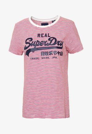 VINTAGE LOGO STRIPE ENTRY TEE - T-shirts med print - ecru slub