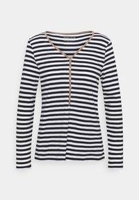 Esprit - HENLEY - Langærmede T-shirts - dark blue - 0