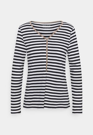 HENLEY - Long sleeved top - dark blue