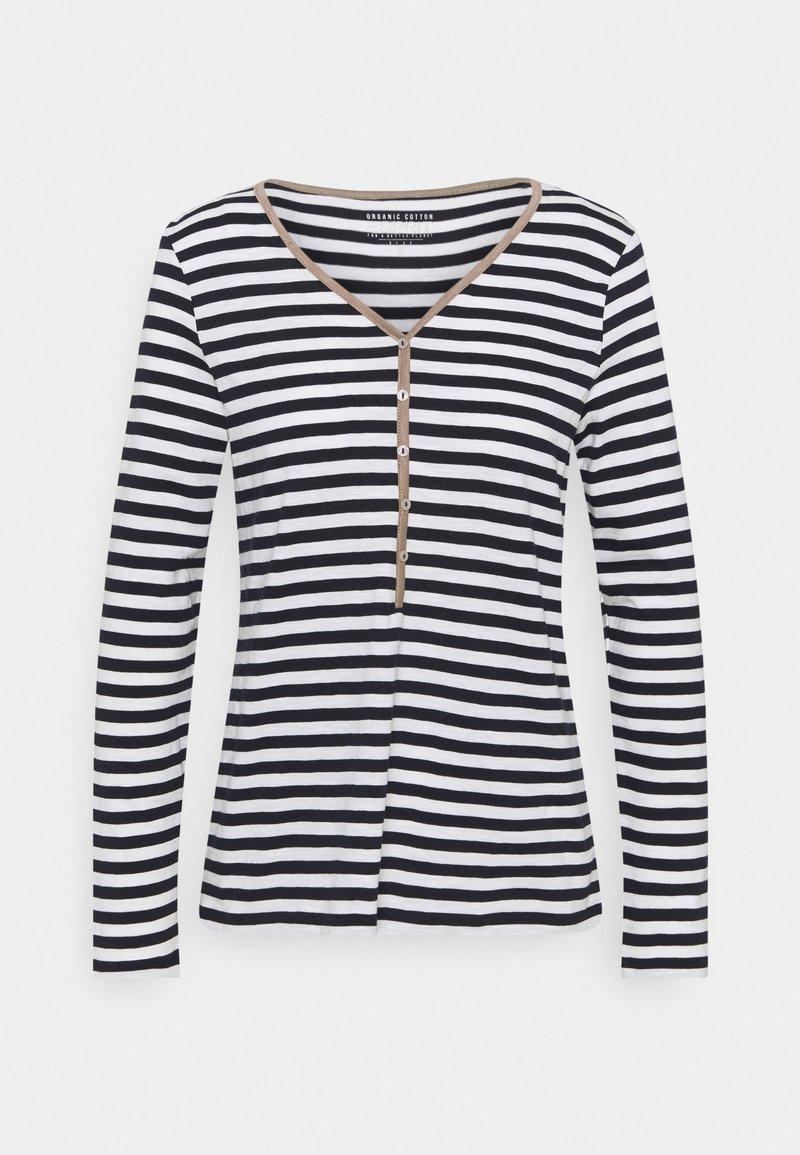 Esprit - HENLEY - Langærmede T-shirts - dark blue