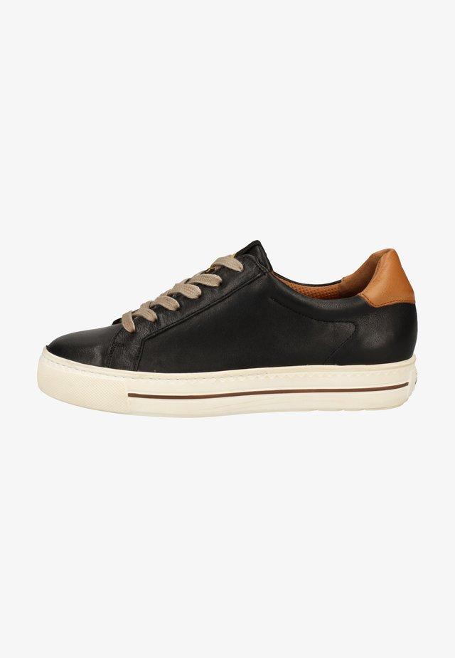Zapatillas - schwarz/braun 007