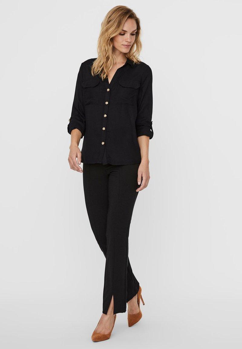 Vero Moda - Button-down blouse - black