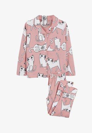 CAT BUTTON THROUGH PYJAMAS - Pyjama set - pink