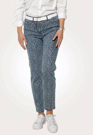Slim fit jeans - hellblau,bordeaux