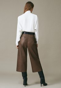 Massimo Dutti - Leather trousers - brown - 1