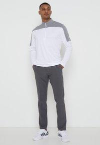 adidas Golf - ZIP LIGHTWEIGHT - T-shirt à manches longues - white - 0