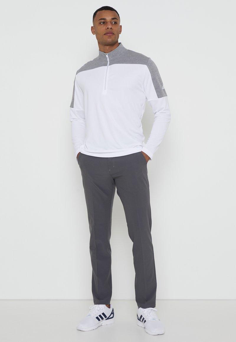 adidas Golf - ZIP LIGHTWEIGHT - T-shirt à manches longues - white
