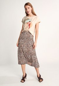 comma - Print T-shirt - shell placed print woman - 1