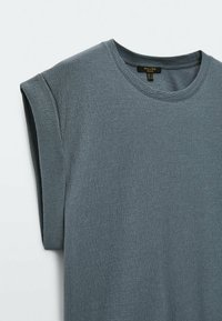 Massimo Dutti - Basic T-shirt - khaki - 5