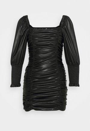 RUCHED MINI - Shift dress - black