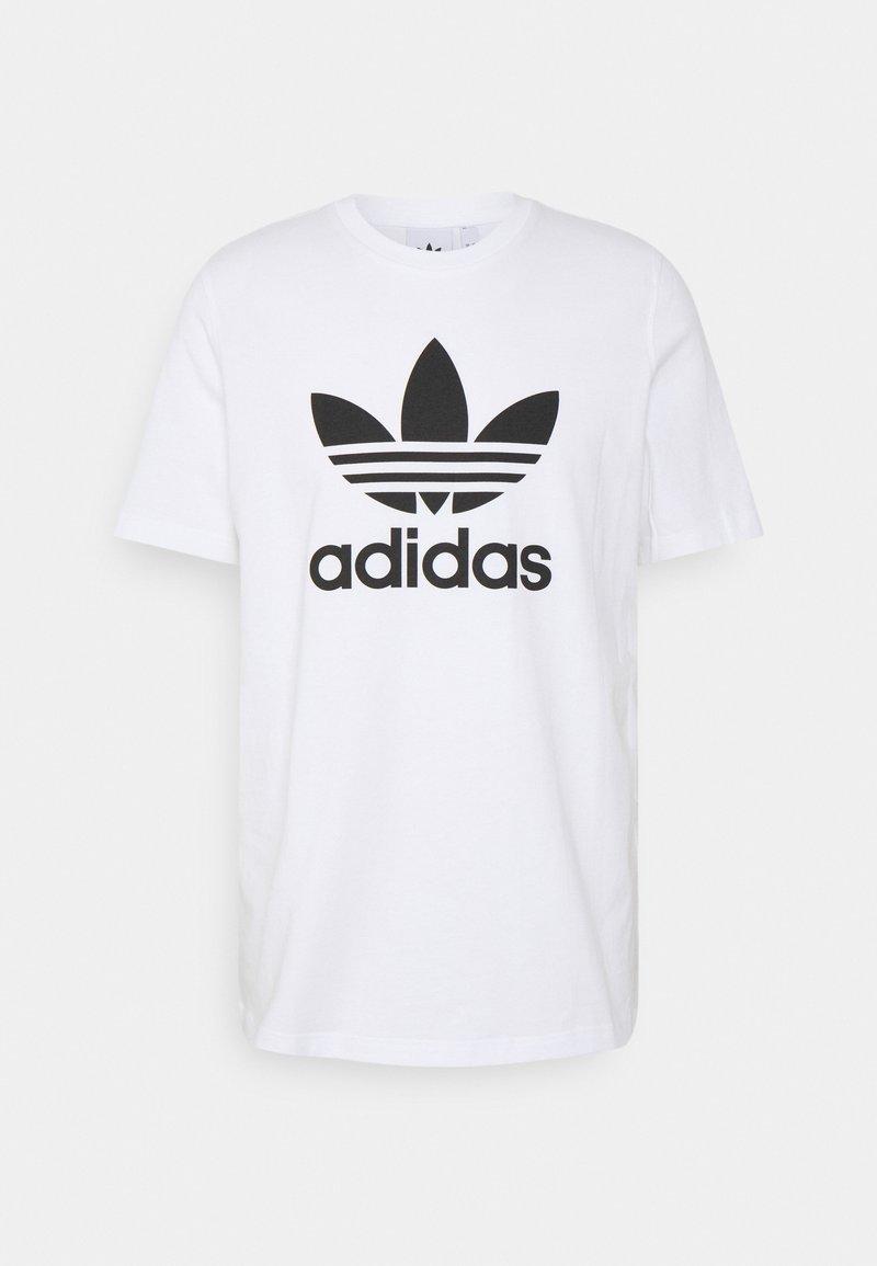 adidas Originals - TREFOIL T-SHIRT ORIGINALS ADICOLOR - Print T-shirt - white/black