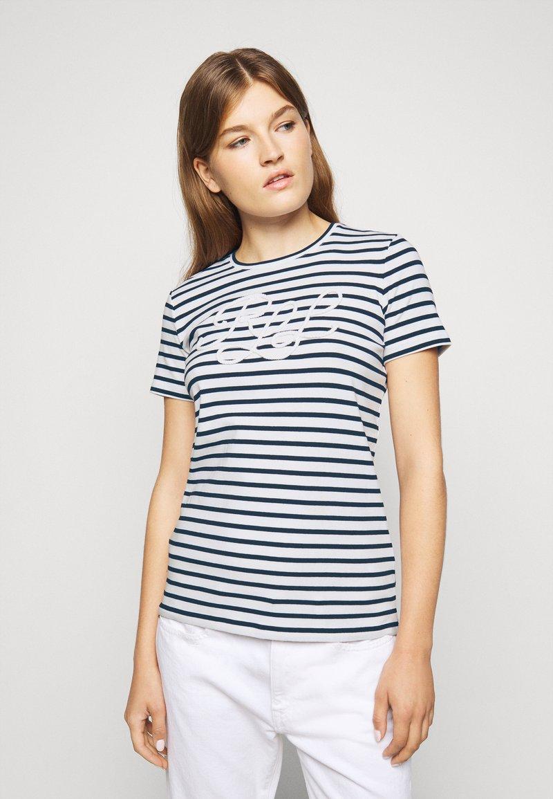 Lauren Ralph Lauren - REFINED  - Print T-shirt - white/lauren navy