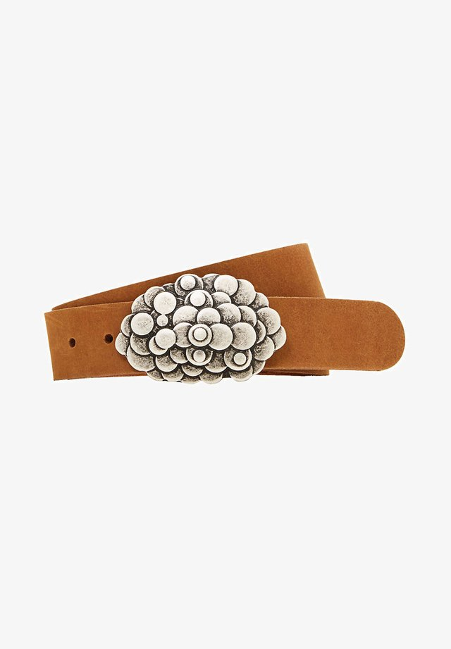 DOTTED COP - Belt - rust brown