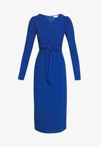 Closet - DRAPE SKIRT WRAP TIE DRESS - Shift dress - cobalt - 5