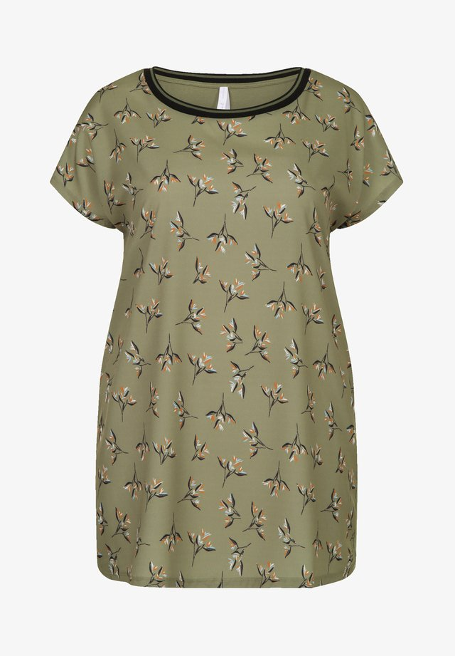 Print T-shirt - m.light olive