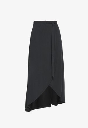 OBJANNIE MIDI SKIRT - STRAIGHT - Wrap skirt - black