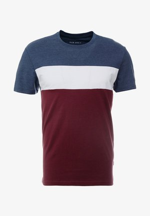 T-shirt z nadrukiem - bordeaux / dark blue