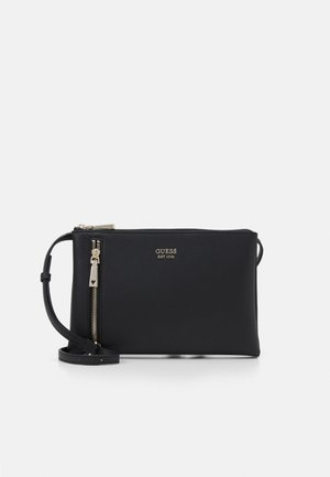 NAYA DOUBLE ZIP CROSSBODY - Sac bandoulière - black