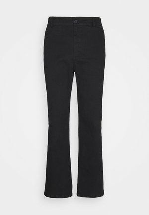 FRONT CREASE PANTS - Pantalones - black