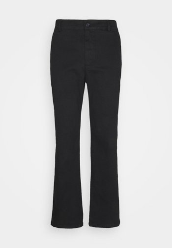 FRONT CREASE PANTS - Pantaloni - black