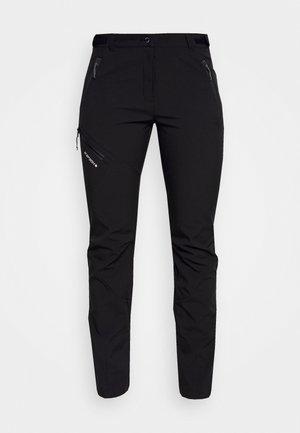 PINNEBERG - Pantalones montañeros largos - black