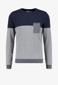 Pier One - Jumper - mottled grey/dark blue - 3