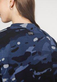 G-Star - LOOSE FIT CAMO CREWNECK - Sweater - faze blue multi - 4