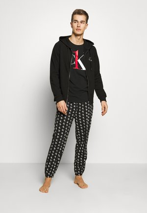 CK ONE FULL ZIP HOODIE  - Pyjama top - black