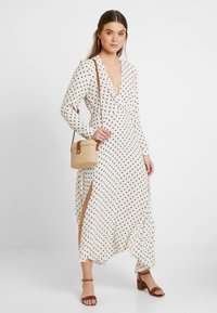 Topshop - EXTURED DOT DRESS - Day dress - cream - 1