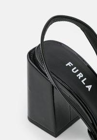 Furla - BLOCK SLING BACK - Classic heels - nero - 6
