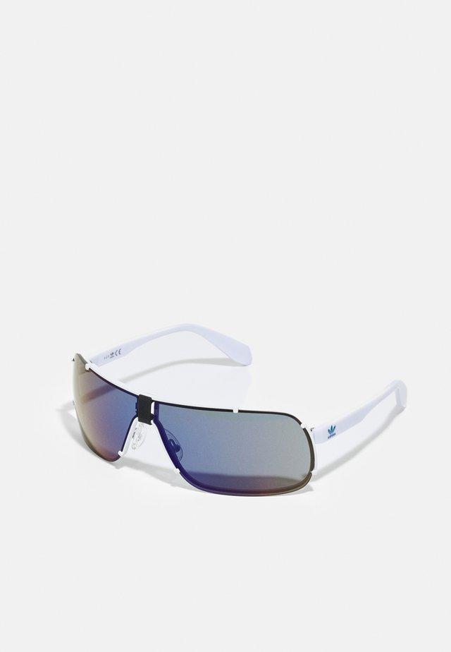 UNISEX - Zonnebril - white/blue mirror