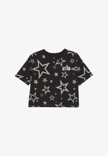PRINTED ALL STAR BOXY TEE - Triko spotiskem - black