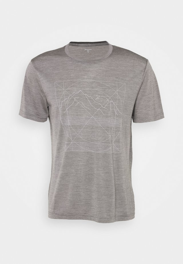 ACTIVIST MESSAGE TEE - T-shirt con stampa - soft grey