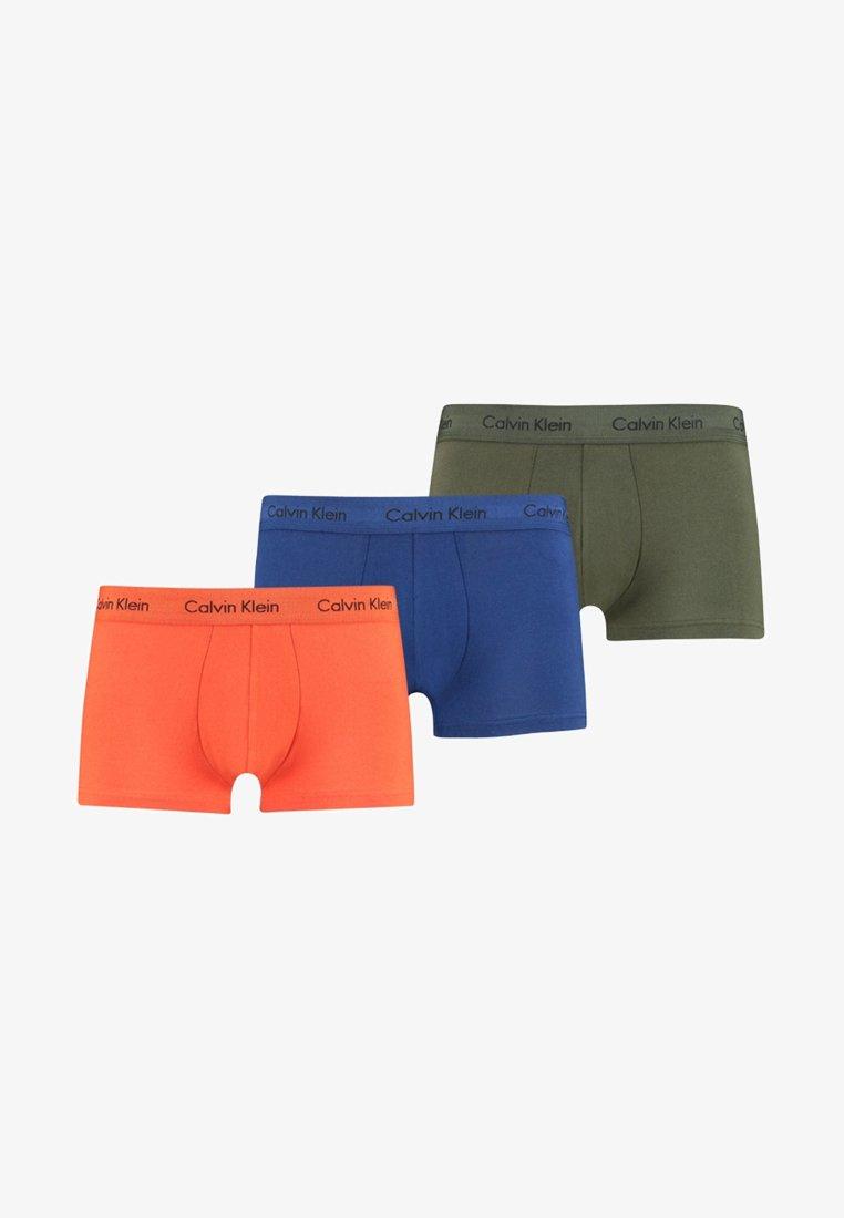 Calvin Klein Underwear - LOW RISE TRUNK 3 PACK - Onderbroeken - orange/blue/olive