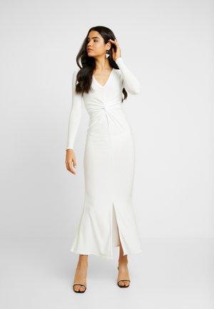 SPARKLE TWIST FRONT DRESS - Iltapuku - white