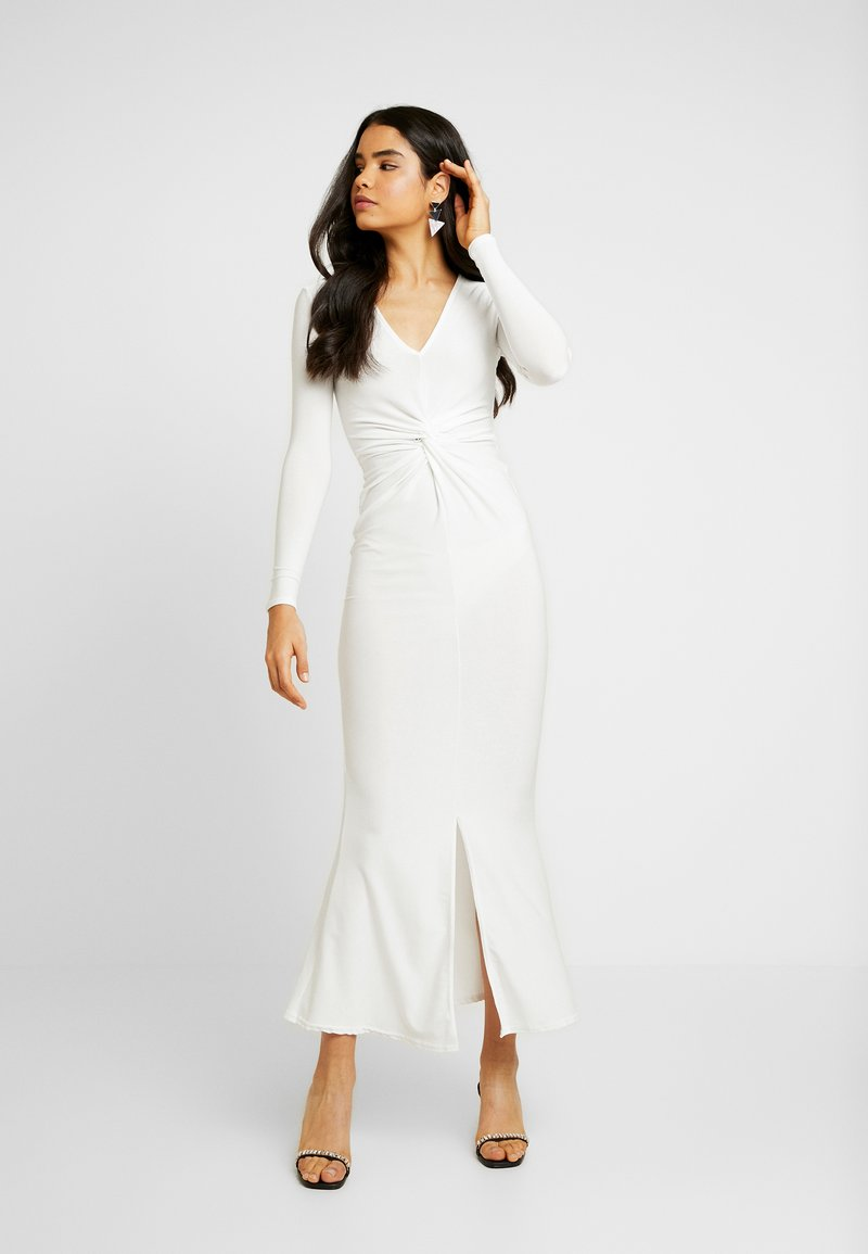 Missguided Tall - SPARKLE TWIST FRONT DRESS - Galajurk - white