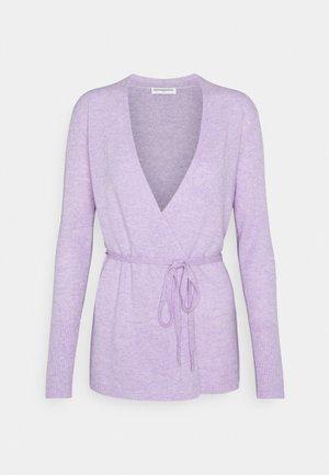 WRAP CARDIGAN - Strickjacke - lavender