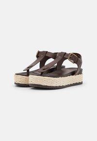Marc O'Polo - ILARIA - T-bar sandals - dark brown - 2