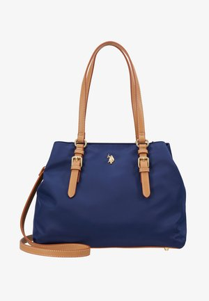 HOUSTON - Handbag - navy/beige