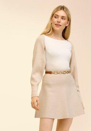 Cardigan - beige caro