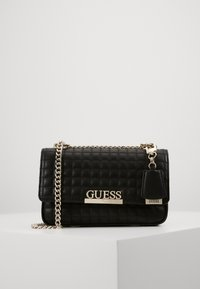 Guess - MATRIX CONVERTIBLE XBODY FLAP - Bandolera - black - 1