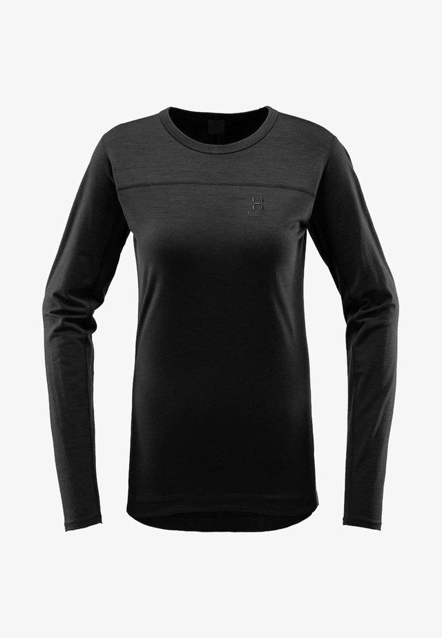 ACTIVES WOOL ROUNDNECK  - Pitkähihainen paita - true black