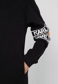 KARL LAGERFELD - CUT OUT SLEEVE DRESS - Day dress - black - 4