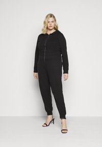 Missguided Plus - HOODED  - Jumpsuit - black - 0
